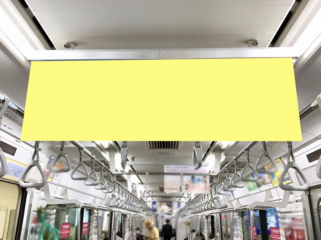 相鉄線中づり(中吊り)ポスターの写真。サイズはワイドサイズ