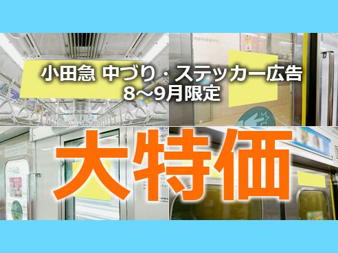 【今だけ大幅値下げ!】 小田急電鉄 8~9月限定 夏期特価プラン