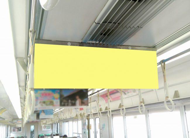 【電車広告】JR西日本 普通電車 中づりD[中づりポスター] ワイドサイズ 7日間