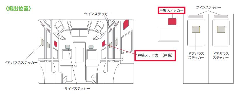 戸袋ステッカー(掲載位置イメージ①)